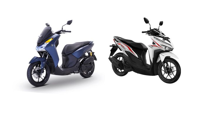 Yamaha Lexi 125 dan All New Honda Vario 125