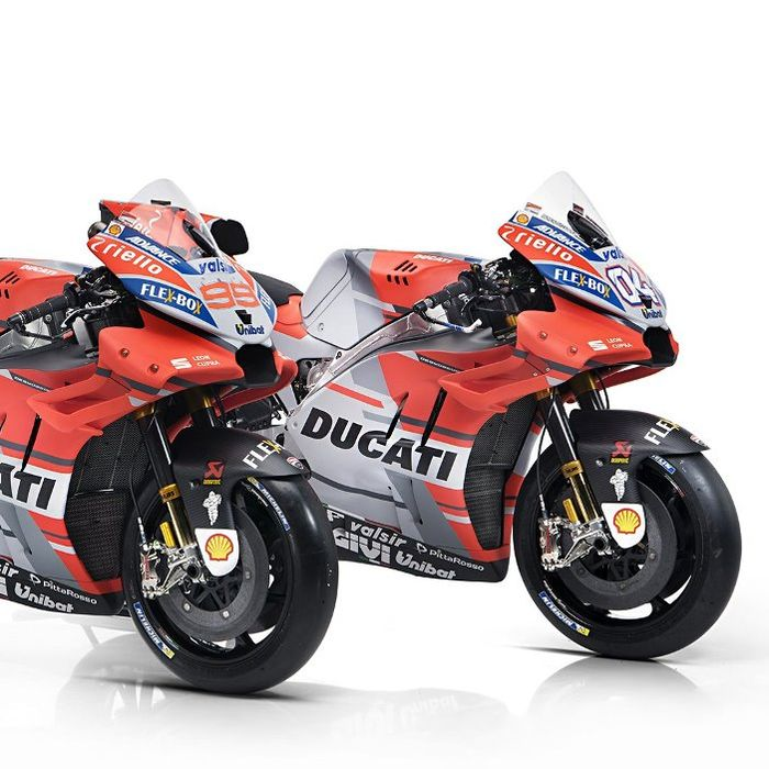 Ducati Desmosedici GP andalan Andrea Dovizioso dan Jorge Lorenzo.