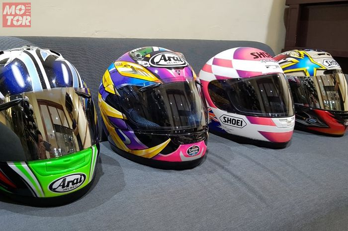 Koleksi helm branded lawas Arf Performance