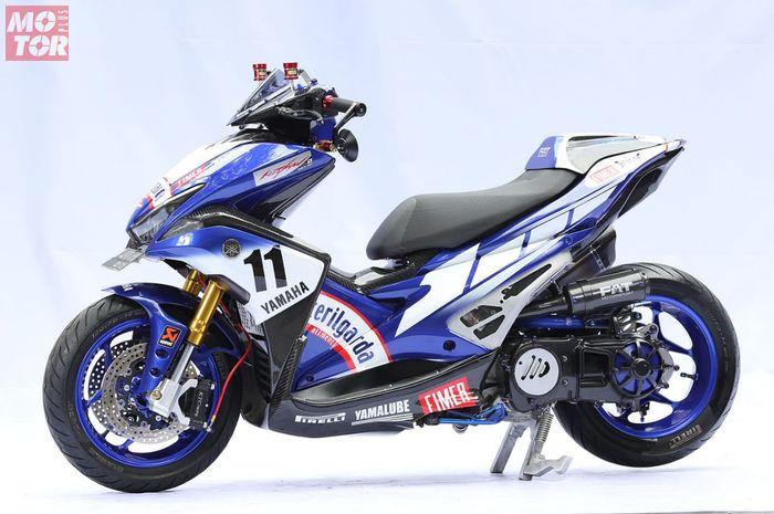 Yamaha Aerox dengan konsep motor balap pakai radiator di depan