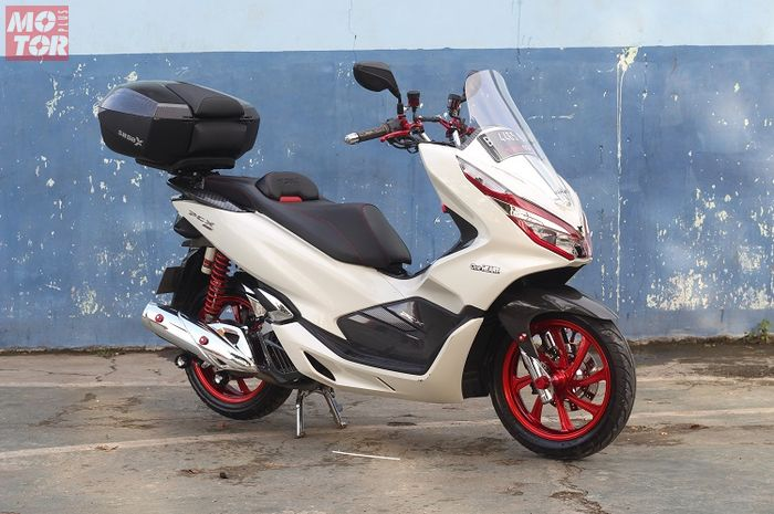 Modifikasi Jok All New Honda PCX 150 Tampil Makin Mewah!