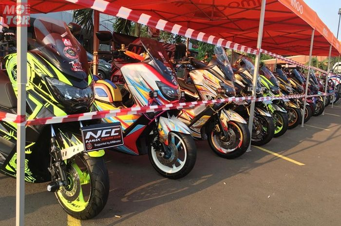 Deretan motor Yamaha NMAX modifikasi dalam Adi Pro Modification Contest 2019