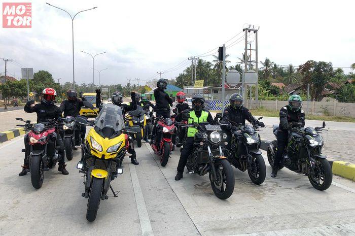 Komunitas Z900 Baikaa Indonesia gelar turing ringan ke Lampung