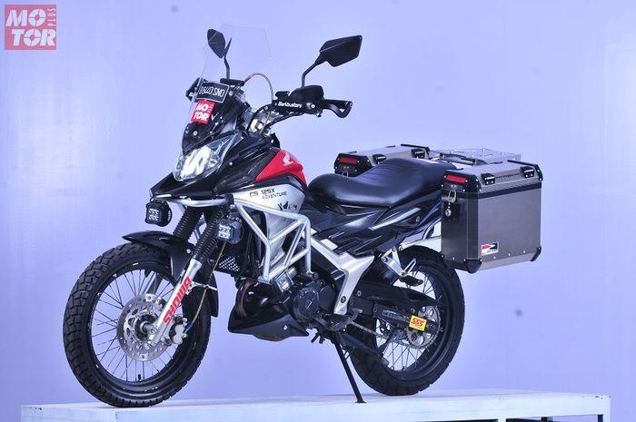 Honda CS1 dibuat bergaya adventure buatan Ardhi Malik