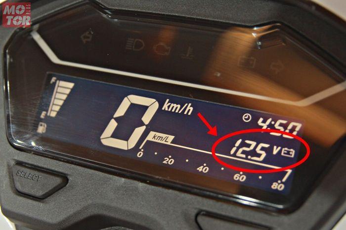 Voltmeter di speedometer Honda Vario 150 terbaru