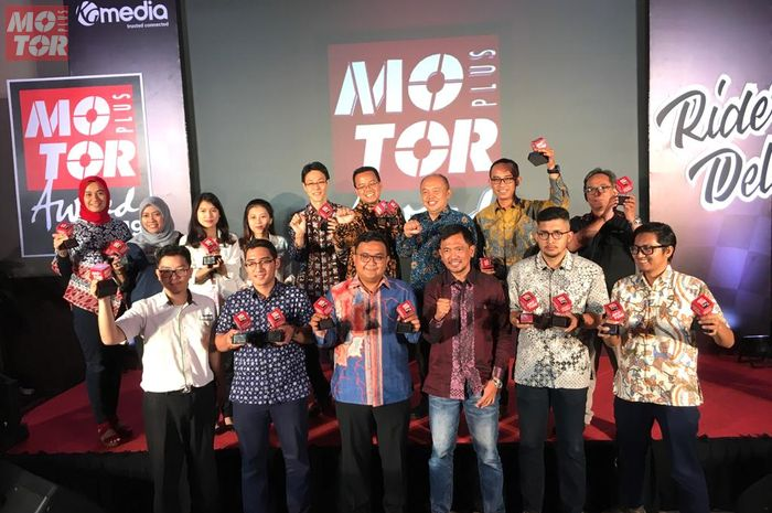 Para pemenang MOTOR Plus Award 2019 yang digelar di markas MOTOR Plus-online.com, Jakarta Barat (8/10/2019)