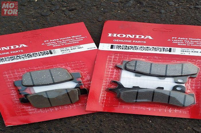 Kampas rem depan (kanan) dan belakang (kiri) Honda PCX 150 bisa dipakai di Honda ADV150.