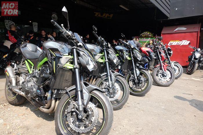 Motor-motor milik anggota Z900 Baikaa Indonesia. Keren, Komunitas Z900 Baikaa Indonesia Tunda Agenda Turing di Masa Pandemi