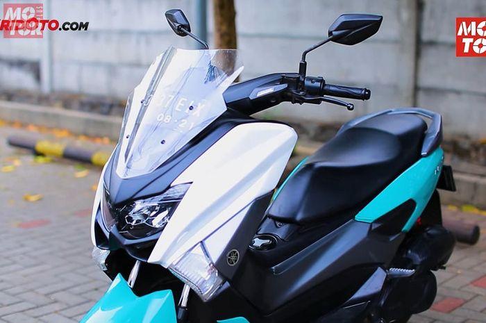 Tampang Yamaha NMAX langsung berubah setelah pasang cover bodi terbaru dari Lent Automodified