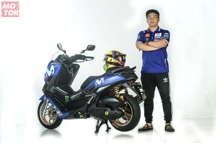 Albert Lesmana sejak kecil mengidolakan Valentino Rossi, motor Yamaha NMAX miliknya pakai sokbreker dan pelek emas
