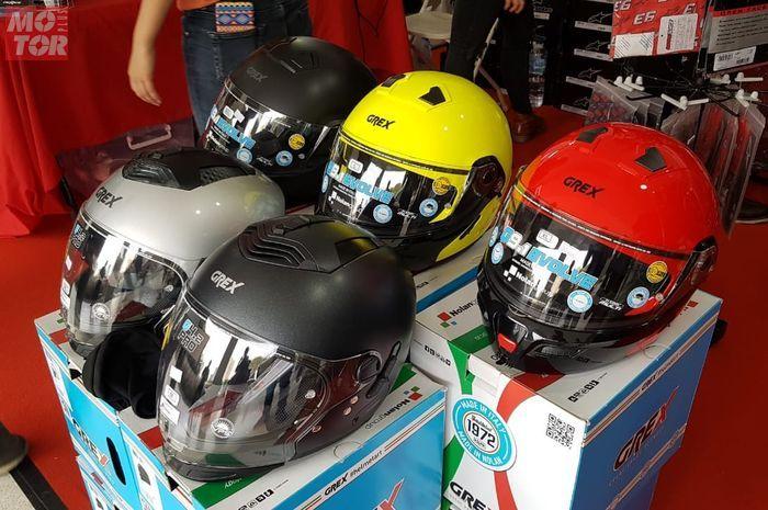 DeRide kasih promo helm premium di IIMS Motobike Expo 2019.