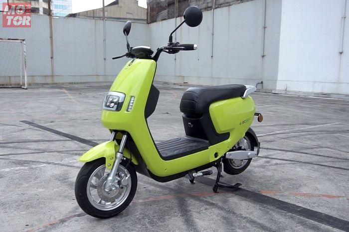 Motor listrik ECGO 2, motor listrik akan memiliki pelat nomor khusus