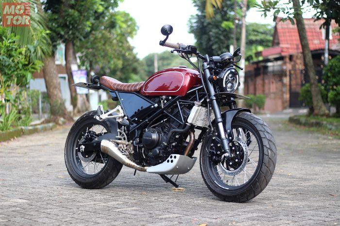 Bosan dengan gaya sporty, Honda CBR250R berubah jadi scrambler