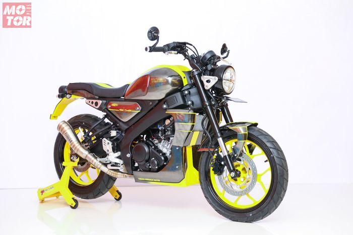 Yamaha XSR 155 yang jadi Jawara kelas Yamaha Heritage Built Denpasar 2020, pakai part custom