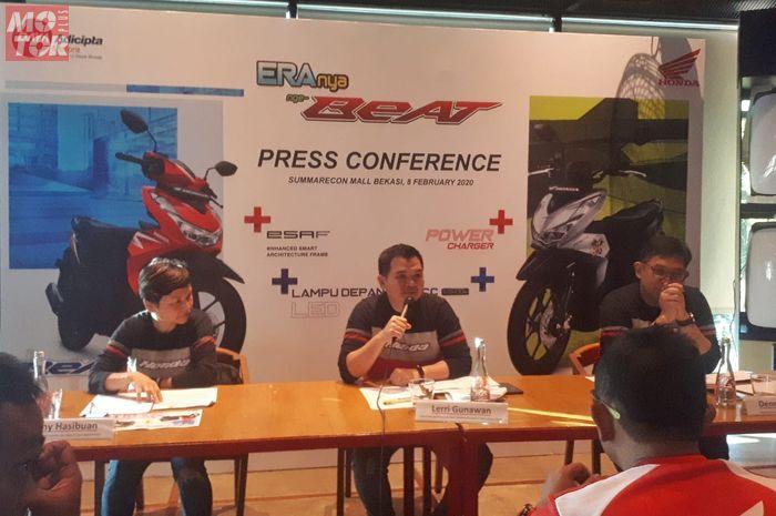 Konferensi pers peluncuran Honda BeAT 2020 di Jawa Barat
