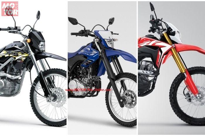 Kawasaki KLX 150, Yamaha WR 155 dan Honda CRF150L.