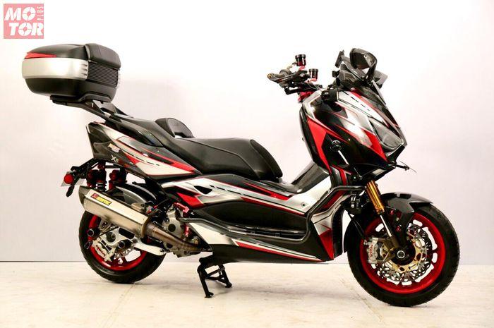 Yamaha XMAX juara best touring Customaxi x Heritage Build Makassar, modifikasinya bikin melongo