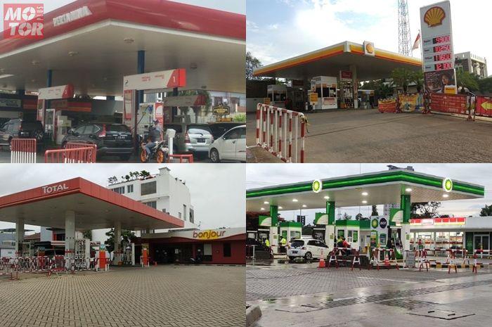 Ilustrasi SPBU di Indonesia, benarkah harga BBM turun?