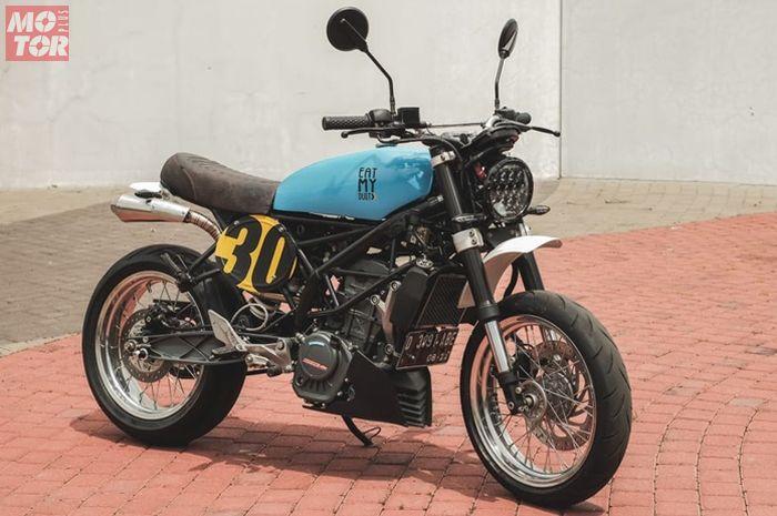 KTM Duke 200 modifikasi street tracker dari Bandung