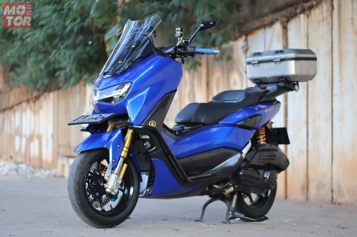 Modifikasi Yamaha All New NMAX, bodi dibalut kelir sporty, siap diajak touring