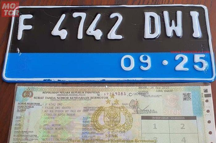 Terungkap Pelat Nomor Motor Listrik Gesits Berbeda, List Warna Biru Ada Maknanya
