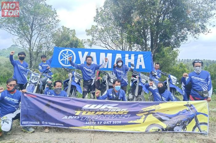 Dorong terbentuknya komunitas WR 155 R, Yamaha Madiun-Kediri gelar trabasan ke Bukit Teletubies.