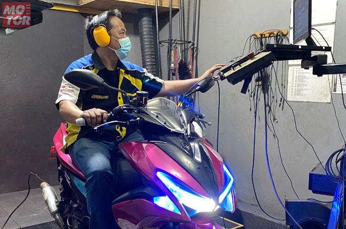 Yamaha Aerox 155 bore up 183 cc di Betawi Racer