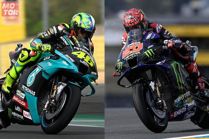Valentino Rossi senyum, Fabio Quartararo gasak pole position MotoGP Prancis 2021, Sabtu (15/5/2021)