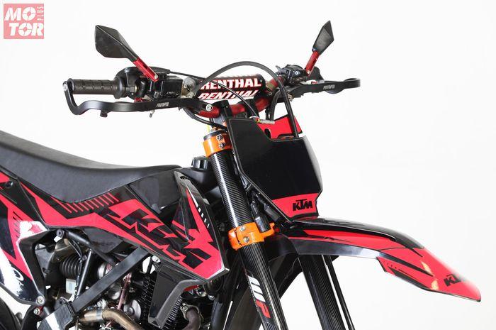 Modifikasi Kawasaki KLX 150 Berbaju KTM CAOS Custom Bike