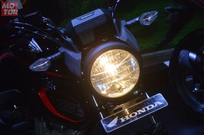 Ilustrasi lampu motor.