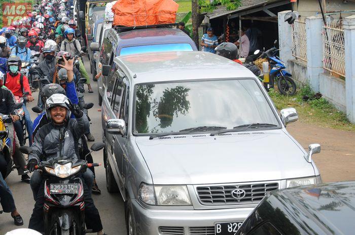 Ilustrasi kemacetan mudik Lebaran
