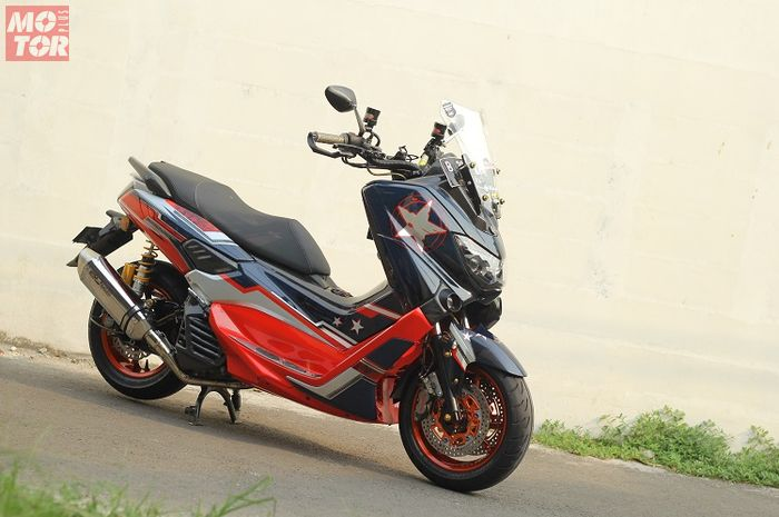 Modifikasi Yamaha NMAX 2015 Racing.