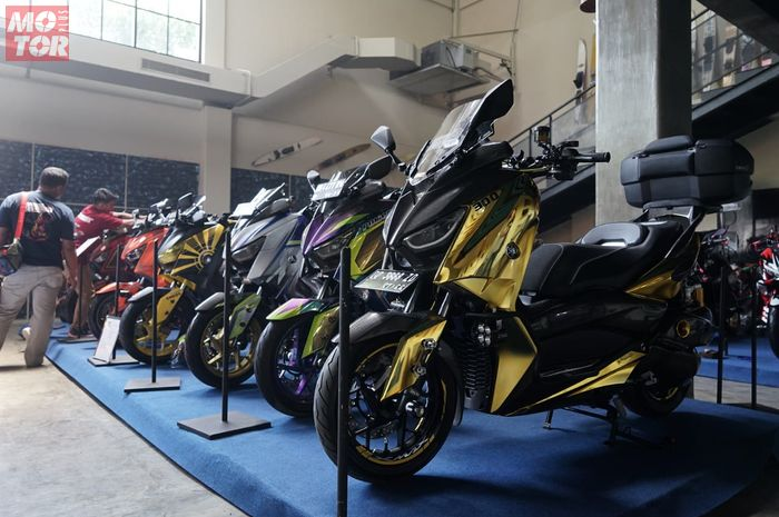 Jajaran XMAX keren kontestan Customaxi Makassar