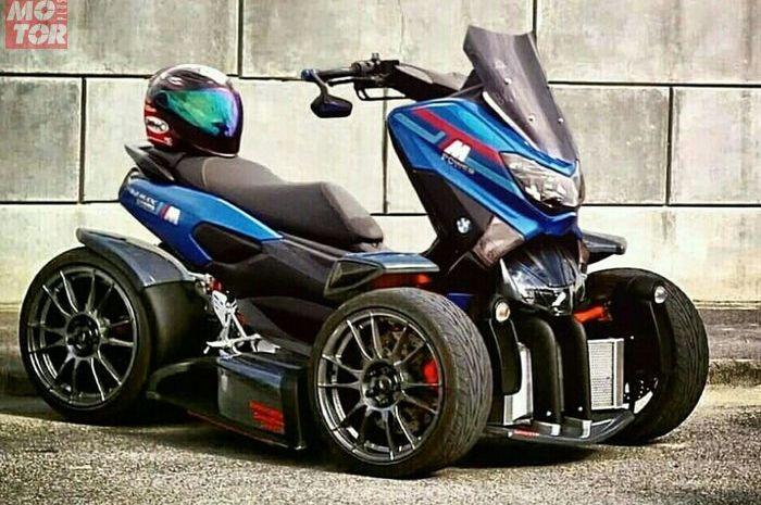 Yamaha NMAX bergaya ATV beroda tiga.
