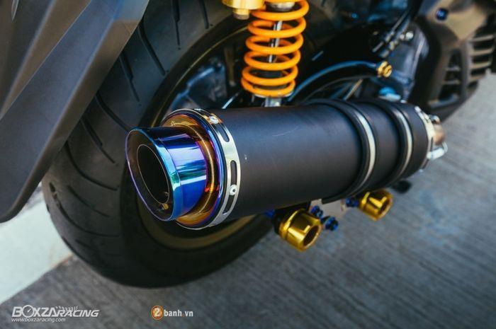Ilustrasi knalpot motor.