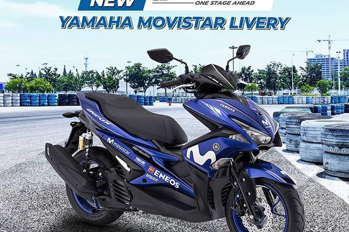 Yamaha Aerox R-Version livery Movistar
