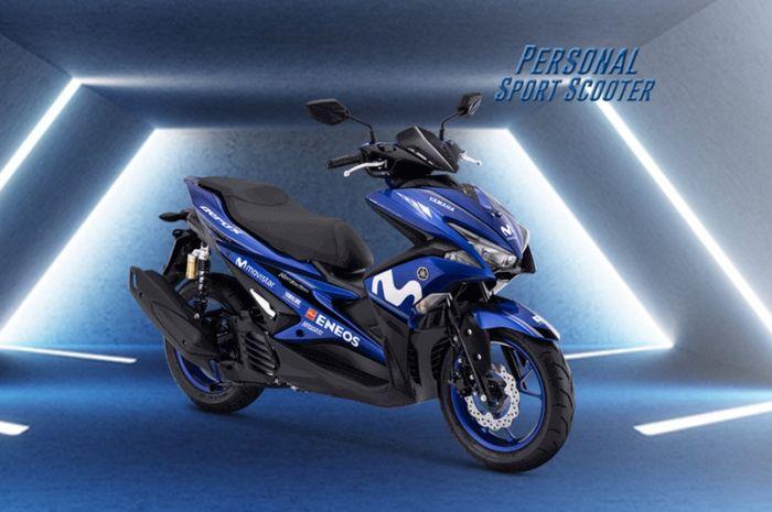Yamaha Aerox R-Version dengan livery Movistar Yamaha