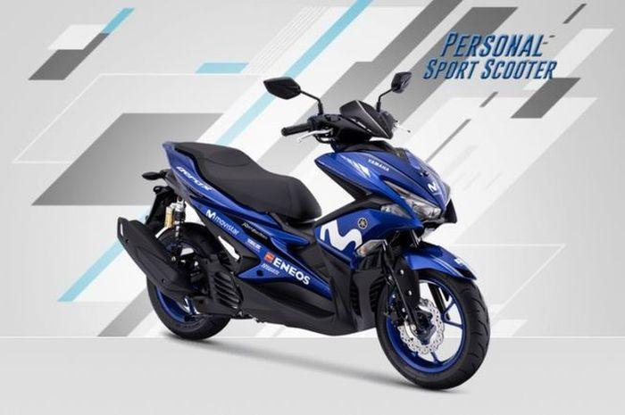 Yamaha Aerox 155 grafis Movistar MotoGP dilaunching Agustus 2018