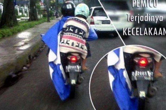 Tips memilih jas hujan yang tepat, jas hujan model Ponco tidak disarankan
