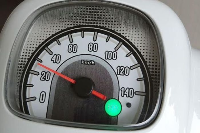 Lampu indikator di speedometer Honda All New Scoopy FI.