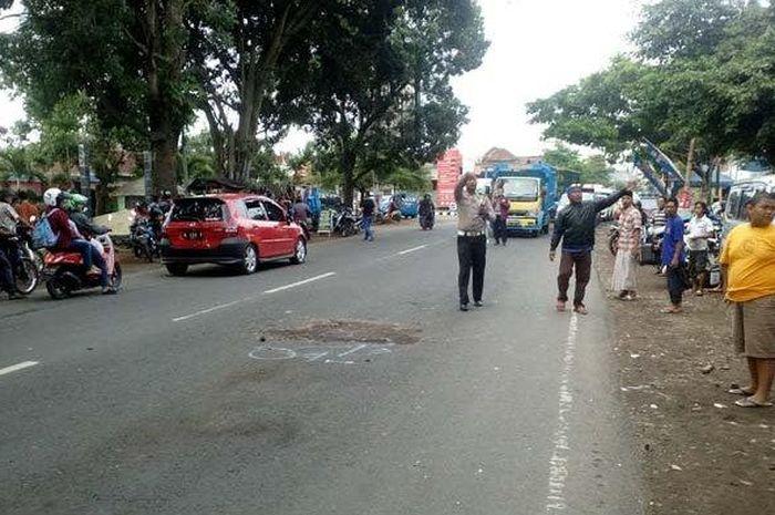 Lokasi tewasnya Briptu Dodik Restu Purnomo Anggota Polres Mojokerto yang Tewas di Kota Malang (16/12/2018)