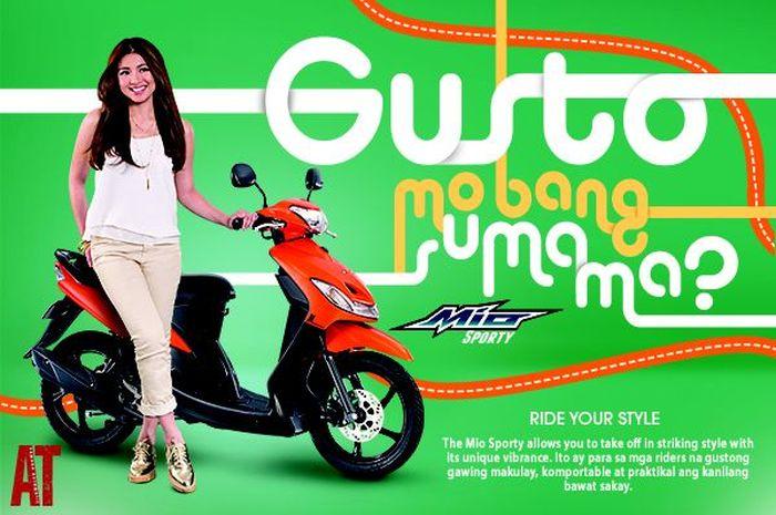 Iklan Yamaha Mio Sporty dengan Nadine Reid