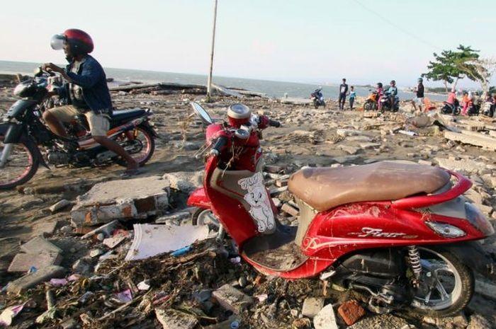 Ilustrasi motor korban terendam air laut