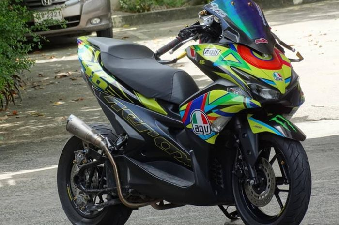 Yamaha Aerox modifikasi.