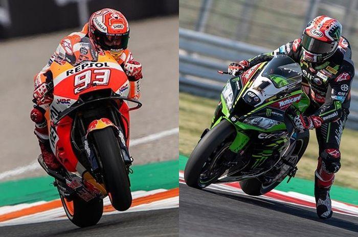 Marc Marquez dari MotoGP versus Jonathan Rea dari WorldSBK