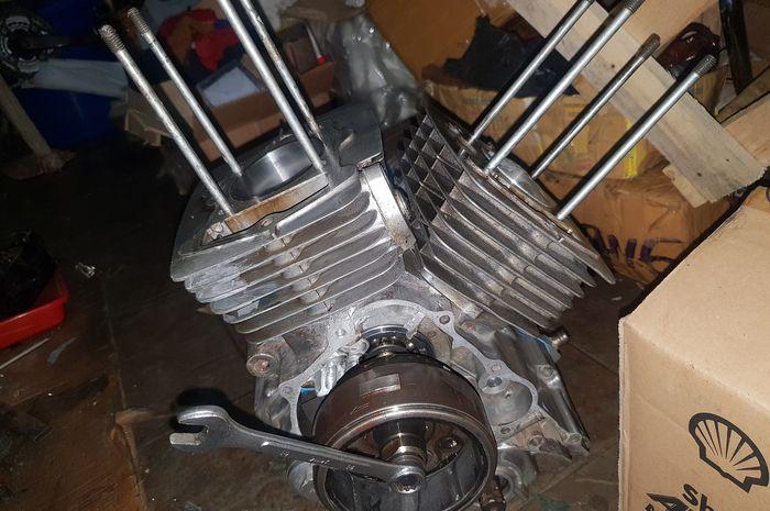 mesin Honda Tiger dua silinder V-Twin