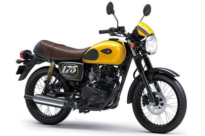 Pearl Brilliant Yellow kuning di Kawasaki W175 Cafe