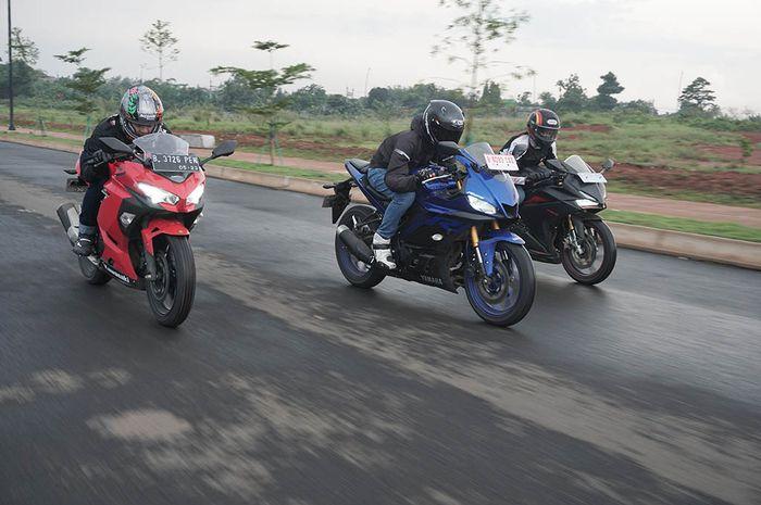 Ilustrasi motor sport 250. Harga baru mendekati banderol moge seken