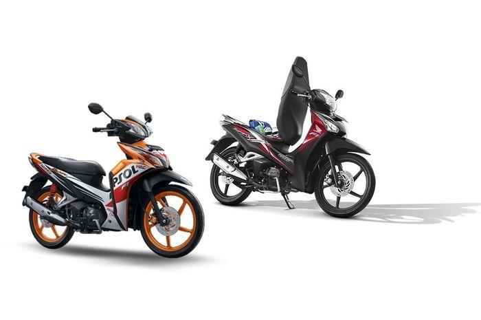 Honda Blade 125 dan Honda Supra X 125 Helm In