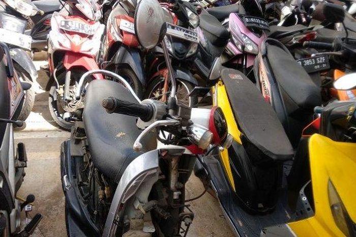 Motor Honda Scoopy yang dirusak pemotor sudah diamankan polisi.